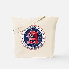 Atlanta born raised blue Tote Bag