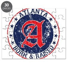 Atlanta born raised blue Puzzle