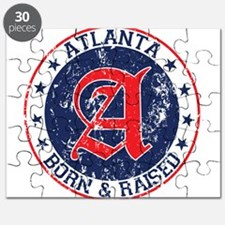 Atlanta born raised blue Puzzle