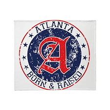 Atlanta born raised blue Throw Blanket