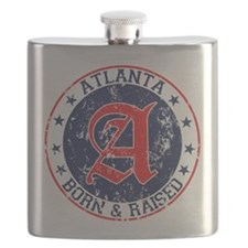 Atlanta born raised blue Flask