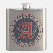Atlanta born raised blue Flask