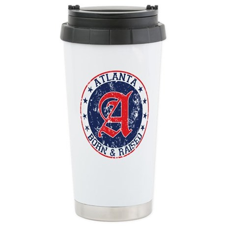 Atlanta born raised blue Travel Mug