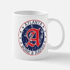Atlanta born raised blue Mug
