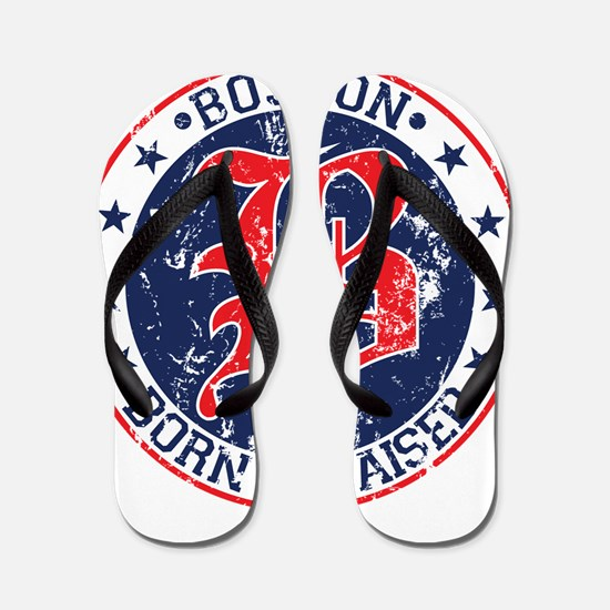 Boston born and raised red Flip Flops