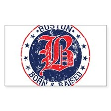 Boston born and raised red Decal