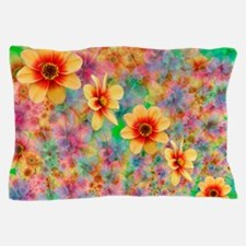 Hippie Psychedelic Flower Pattern Pillow Case