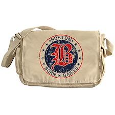 Boston born and raised red Messenger Bag