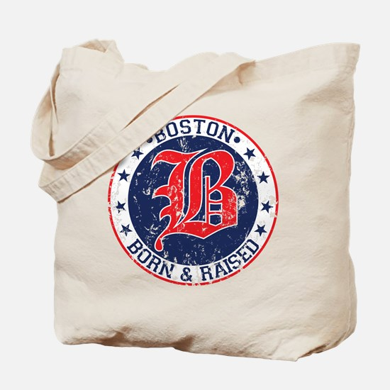 Boston born and raised red Tote Bag
