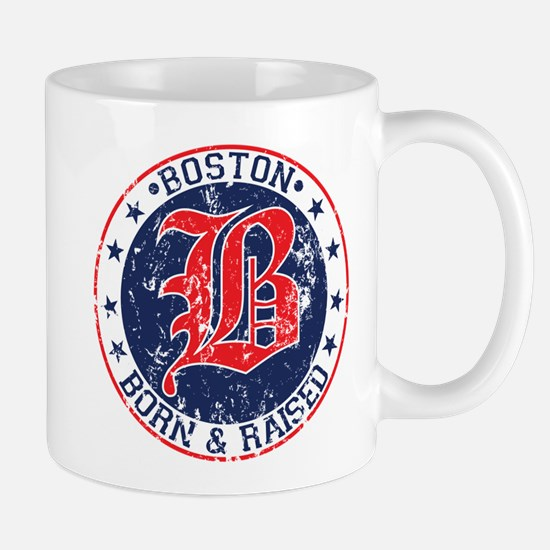 Boston born and raised red Mug