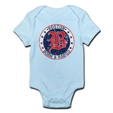 Boston born and raised red Body Suit