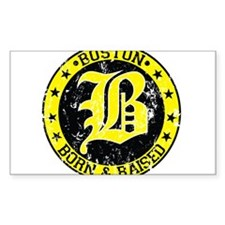 Boston born and raised yellow Decal