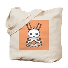 Kawaii Orange Bunny Tote Bag