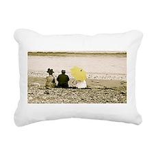 Yellow Umbrella Rectangular Canvas Pillow