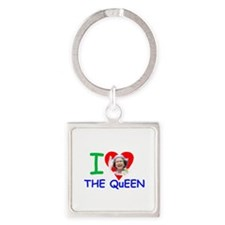 HM Queen Elizabeth II Square Keychain