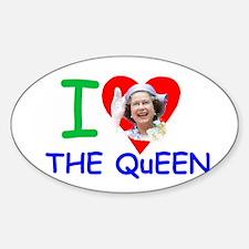 HM Queen Elizabeth II Sticker (Oval)