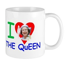 I Love The Queen Mugs