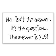 War isn't the answer