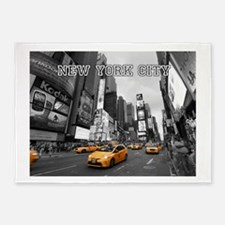 Wow! New York Times Square Pro Phot 5'x7'Area Rug