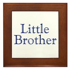Little Brother (blue) Framed Tile