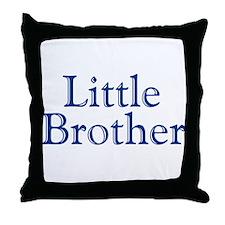 Little Brother (blue) Throw Pillow