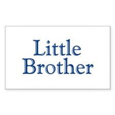 Little Brother (blue) Rectangle Decal