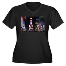 Stunning! Ne Women's Plus Size V-Neck Dark T-Shirt