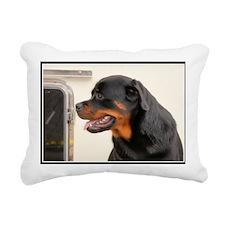 Rottweiler Dog Rectangular Canvas Pillow
