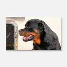 Rottweiler Dog Rectangle Car Magnet