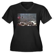 Super! Times Women's Plus Size V-Neck Dark T-Shirt