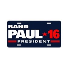 Rand Paul - President Aluminum License Plate