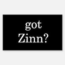 Howard Zinn Rectangle Decal