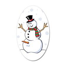 Naughty Snowman Wall Decal