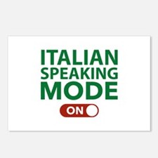Italian Speaking Mode On Postcards (Package of 8)
