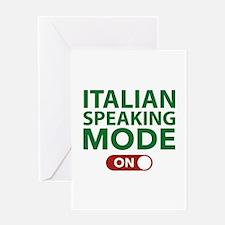 Italian Speaking Mode On Greeting Card