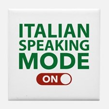 Italian Speaking Mode On Tile Coaster