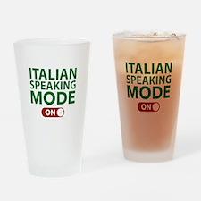 Italian Speaking Mode On Drinking Glass
