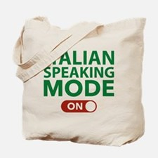 Italian Speaking Mode On Tote Bag