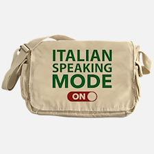 Italian Speaking Mode On Messenger Bag
