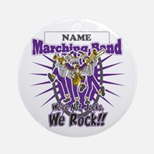Marching Band Rocks(Purple) Ornament (Round)