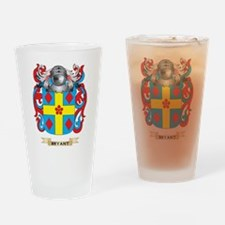 Bryant-2 Coat of Arms Drinking Glass