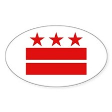 Three Stars and Two Bars Oval Decal