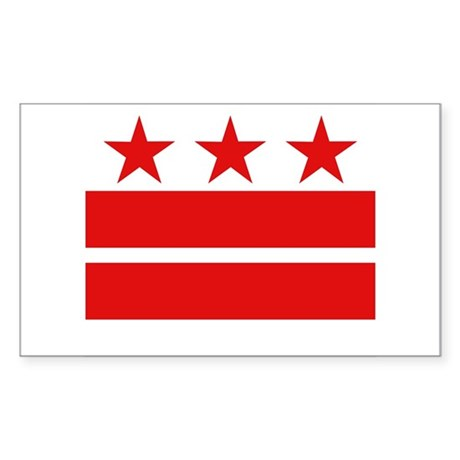 Three Stars and Two Bars Rectangle Sticker