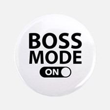 "Boss Mode On 3.5"" Button"