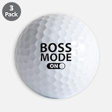 Boss Mode On Golf Ball