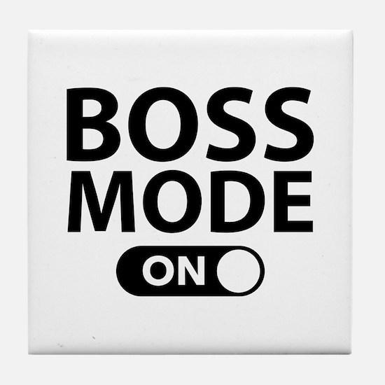 Boss Mode On Tile Coaster