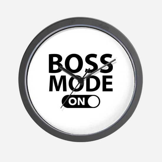Boss Mode On Wall Clock