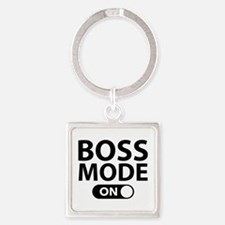 Boss Mode On Square Keychain