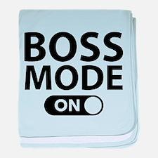 Boss Mode On baby blanket