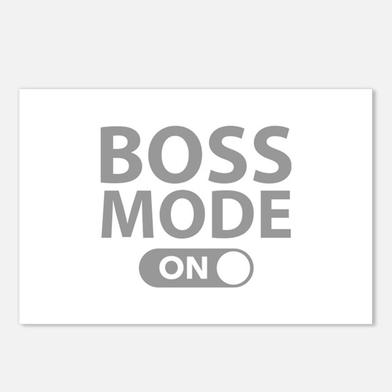 Boss Mode On Postcards (Package of 8)